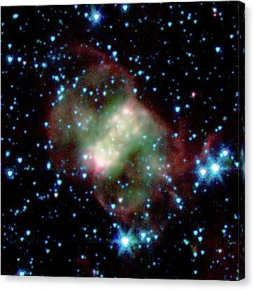 Little Dumbbell Nebula Canvas Print by Nasa/jpl-caltech/j. Hora (harvard-smithsonian Cfa)