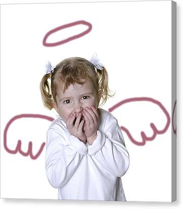 Little Girl Angel Canvas Print by Lane Erickson