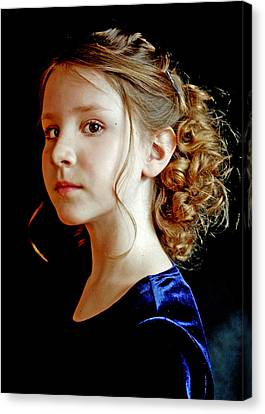 Little Girl Blue Canvas Print by Jon Van Gilder