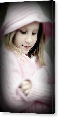 Little Girl Pink Canvas Print by Jon Van Gilder