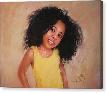 Little Girl Canvas Print by Ylli Haruni