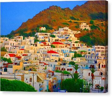 Little Greek Town Canvas Print by John Kreiter