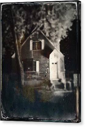 Little House In Maspeth Canvas Print by H James Hoff
