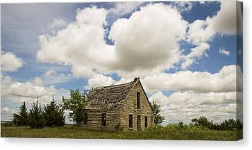 Little House On A Hill Canvas Print by Chris Harris