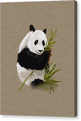 Little Panda Canvas Print by Veronica Minozzi