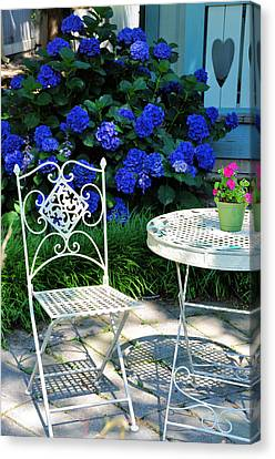 Little Patio Chair Canvas Print by Jan Amiss Photography