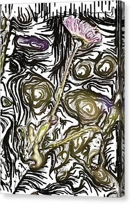Little Purple Flower Canvas Print by Kelly Gibson