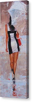 Little Red Bag Canvas Print by Laura Lee Zanghetti
