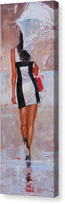 Little Red Bag Canvas Print by Laura Lee Zanghetti