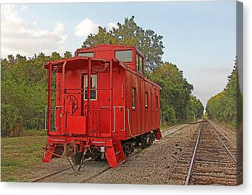 Little Red Caboose 2 Canvas Print by HH Photography of Florida