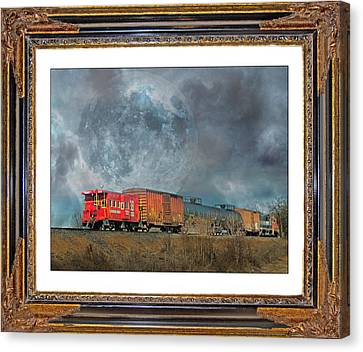 Little Red Caboose  Canvas Print by Betsy Knapp