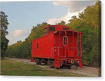 Little Red Caboose Canvas Print by HH Photography of Florida