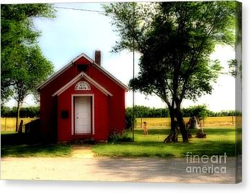 Little Red School House Canvas Print by Kathleen Struckle