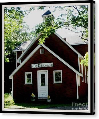 Little Red Schoolhouse Canvas Print by Gail Matthews