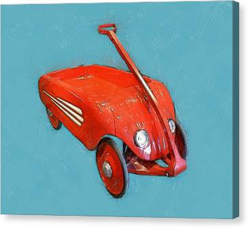 Little Red Wagon Canvas Print by Michelle Calkins