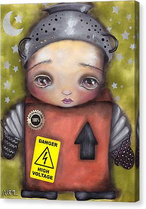 Little Robot Canvas Print by  Abril Andrade Griffith