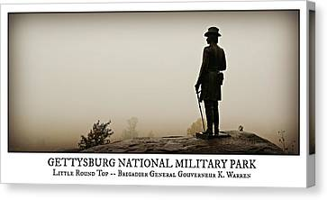 Little Round Top -- Poster Canvas Print by Stephen Stookey