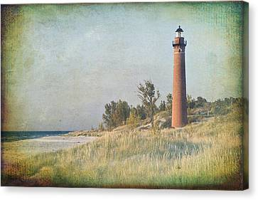 Little Sable Lighthouse Canvas Print by Leo Cumings