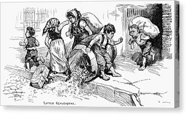 Little Scavengers, 1881 Canvas Print by Granger