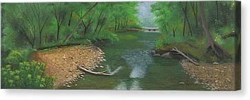 Little Shoal Creek Canvas Print by Garry McMichael