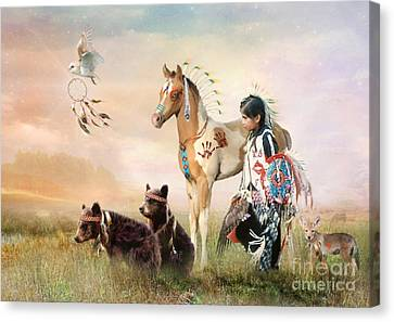Little Warriors Canvas Print by Trudi Simmonds