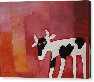 Little White Cow Canvas Print by Lutz Baar