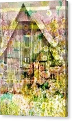 Little Witch Cottage Canvas Print by PainterArtist FIN