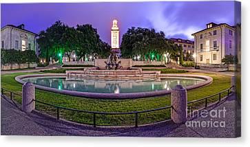 Littlefield Fountain At The University Of Texas In Austin Atx 512 Canvas Print by Silvio Ligutti