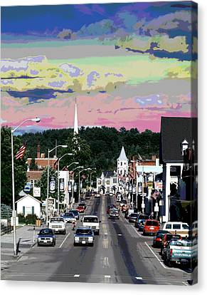 Littleton New Hampshire Canvas Print by Charles Shoup