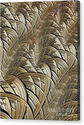 Litz Wire Abstract Canvas Print by John Edwards