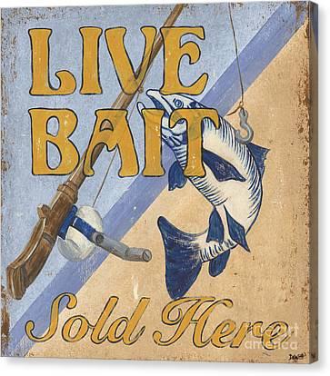 Live Bait Canvas Print by Debbie DeWitt