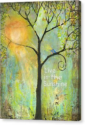 Live In The Sunshine Canvas Print by Blenda Studio