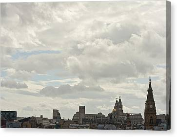 Liverpool Skyline Canvas Print by Georgia Fowler