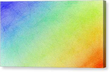 Living In A Rainbow Canvas Print by Bruce Nutting