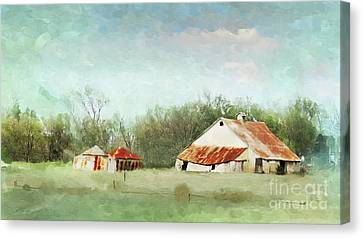 Living In The Past Canvas Print by Betty LaRue