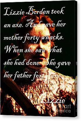 Lizzie - With Text Canvas Print by Wingsdomain Art and Photography