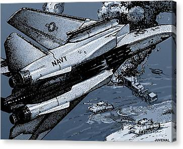 Loaded For Tank Canvas Print by Joseph Juvenal