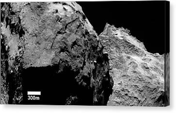 Lobes Of Comet Churyumov-gerasimenko Canvas Print by European Space Agency/rosetta/mps For Osiris Team Mps/upd/lam/iaa/sso/inta/upm/dasp/ida