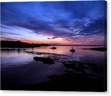 Lobster Boat Sunrise Canvas Print by Donnie Freeman