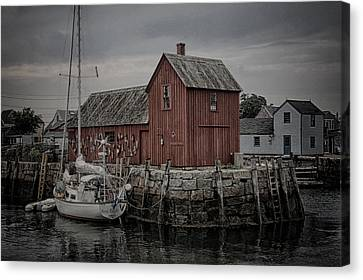 Lobster Shack - Rockport Canvas Print by Stephen Stookey