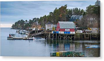 Lobstering Canvas Print by Guy Whiteley