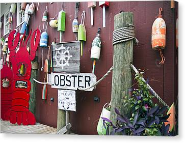 Lobsters And Buoys Canvas Print by Betsy Knapp