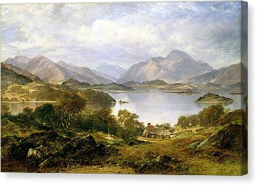 Loch Lomond, 1861 Canvas Print by Horatio McCulloch