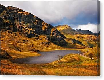 Loch Restil. Rest And Be Thankful. Scotland Canvas Print by Jenny Rainbow