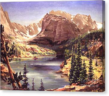 Lock Vale - Colorado Canvas Print by Art By Tolpo Collection