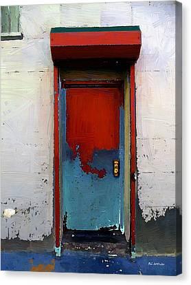 Locked Door, Hell's Kitchen Canvas Print by RC deWinter