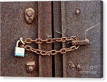 Locked Canvas Print by Olivier Le Queinec