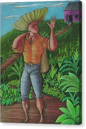 Loco De Contento Canvas Print by Oscar Ortiz