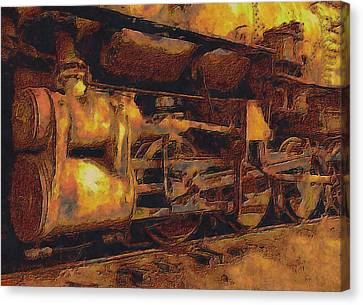 Locomotion Canvas Print by Jack Zulli