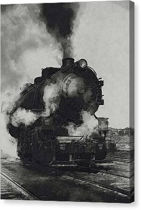Locomotive Canvas Print by Jack Zulli